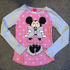 Girls Minnie Mouse shirt - Size M7/8
